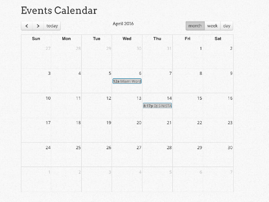 Calendar WordPress plugin - Calendar3 WordPress Connection Wpappstudio 540