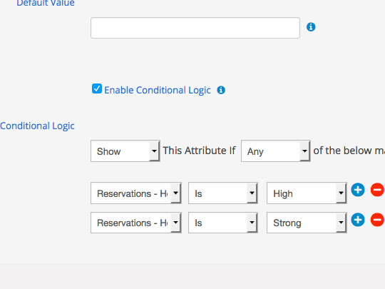 Apply multiple conditions to attributes in WordPress submit forms using WP App Studio