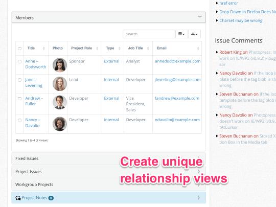 Create unique relationship views in WordPress using WP App Studio